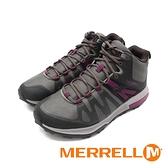 MERRELL(女)ZION FST MID防水郊山健行鞋 女鞋-綠紫