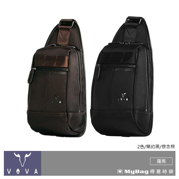 VOVA 沃汎 單肩包 羅馬系列 高質感布配皮胸包 VA115S07 得意時袋