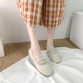 豆豆鞋 夏季瓢鞋仙氣春秋單鞋一腳蹬豆豆鞋女平底百搭奶奶鞋子-Ballet朵朵