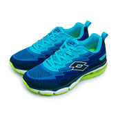 LIKA夢 LOTTO 輕量編織氣墊慢跑鞋 WAVEKNIT 2系列 藍黑綠 5176 男