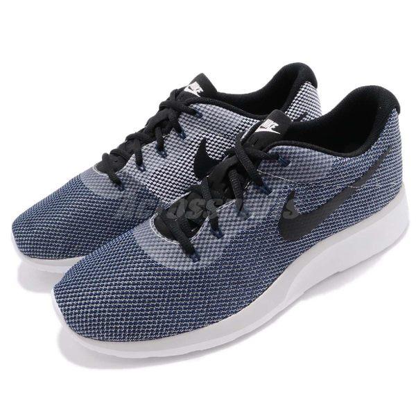 Nike 休閒慢跑鞋 Tanjun Racer 灰 深藍 男鞋 網布透氣 運動鞋【PUMP306】 921669-005