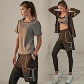 瑜伽服 健身服女瑜伽服運動套裝速幹衣2019新款寬鬆加大碼胖【全館免運】