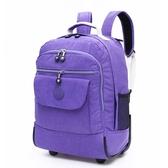 拉桿背包18寸小號帶輪雙肩包可背可拉兩用行李箱超輕旅行帆布拉包