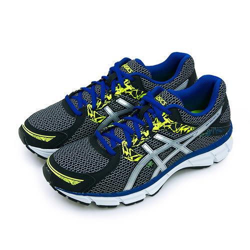 LIKA夢 ASICS亞瑟士 專業慢跑鞋 GEL-OBERON 10 黑藍銀 T5N1N-9093 男