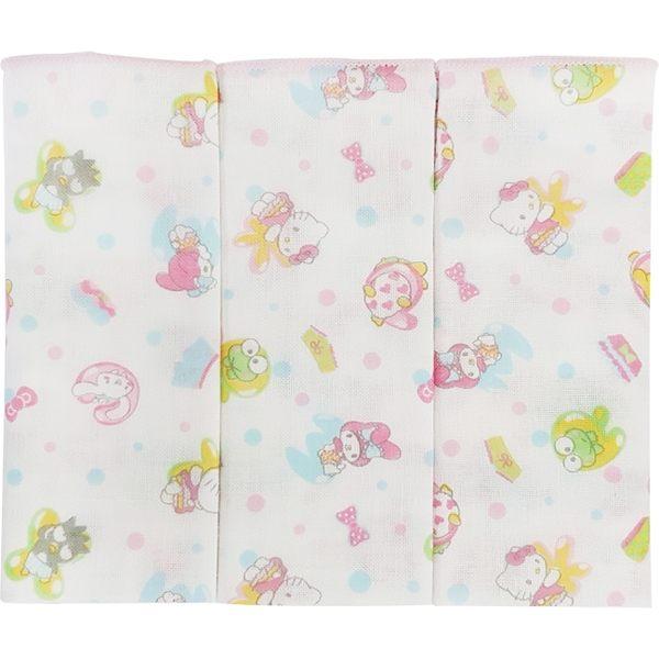 【奇買親子購物網】凱蒂貓滿版紗布手帕/3入裝