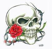 薇嘉雅 骷簍頭 超炫圖案紋身貼紙 b89