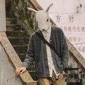 針織開衫外套男士毛衣韓版寬松毛線衣潮【左岸男裝】