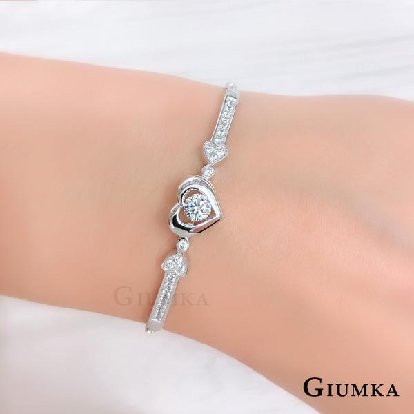 GIUMKA純銀滑扣手鍊 心戀 心動時分跳舞石系列 925純銀手鍊MHS07020