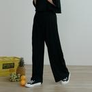 Queen Shop【04070061】細緻坑條微針織鬆緊長褲 兩色售*現+預*