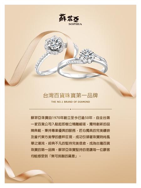 [精選美鑽8折]蘇菲亞SOPHIA - 心的跳動0.30克拉玫瑰金鑽石耳環