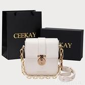手機包 CEEKAY迷你手機包包女2021新款潮百搭時尚女包鍊條側背斜背包小包 韓國時尚週