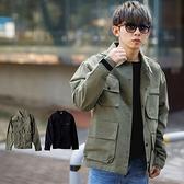 外套 美式寬版大口袋工裝風襯衫外套【NB0990J】