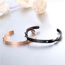【5折超值價】時尚精美特色螺旋造型情侶款鈦鋼手環