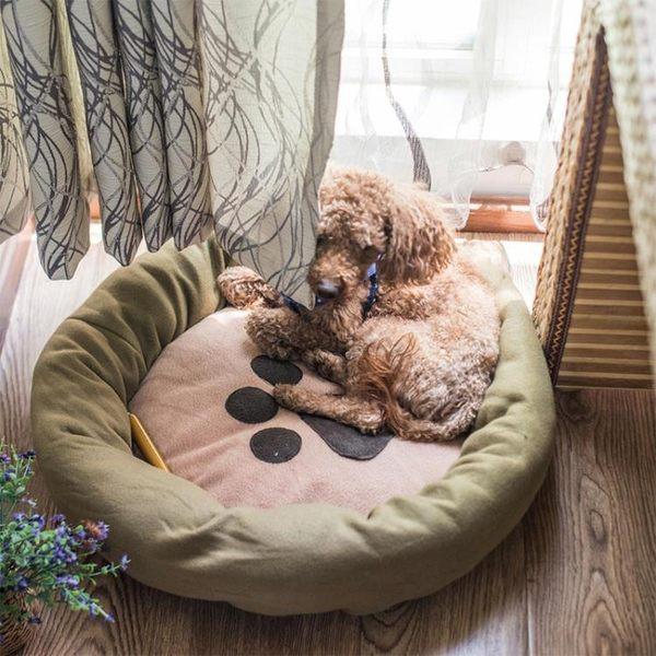 小型犬泰迪狗狗窩耐咬冬季睡墊寵物用品沙發狗床墊子貓窩冬天保暖 概念3C旗艦店