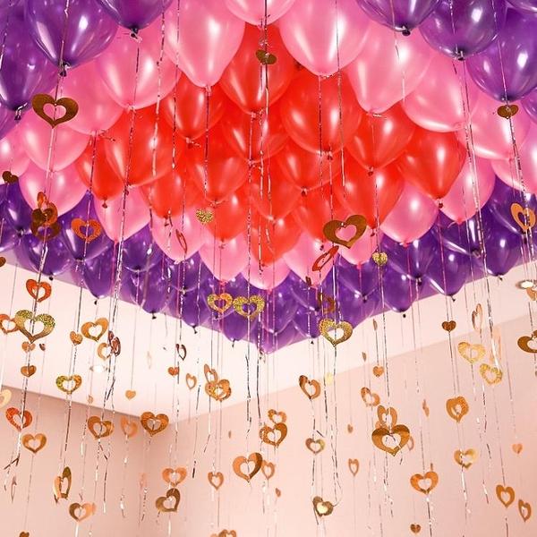 教師節婚慶用品生日派對婚禮布置求婚結婚房裝飾浪漫告白氣球套餐  全館鉅惠