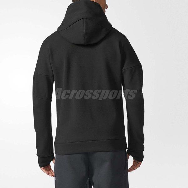 adidas 連帽外套 Z.N.E. HOODY 2長袖上衣 帽踢 連帽夾克 運動 經典基本款 男款 黑 【PUMP306】 BQ6925
