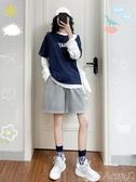 運動短褲女夏季薄款寬鬆ins潮2020年新款中褲bf風港味直筒5五分褲 潮人