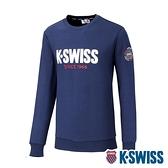 K-SWISS KS CA Sweatshirt圓領長袖上衣-女-藍