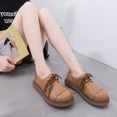 娃娃鞋 羨影英倫風棕色小皮鞋女韓版百搭日系jk軟皮娃娃鞋女圓頭森系單鞋  萬聖節狂歡