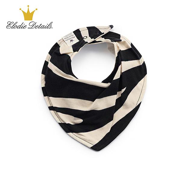 瑞典Elodie Details 北歐時尚有機棉領巾型口水巾圍兜 - 炫斑馬