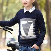 男童毛衣童裝男童毛衣套頭中大童純棉韓版好康推薦新品秋冬裝兒童針織衫