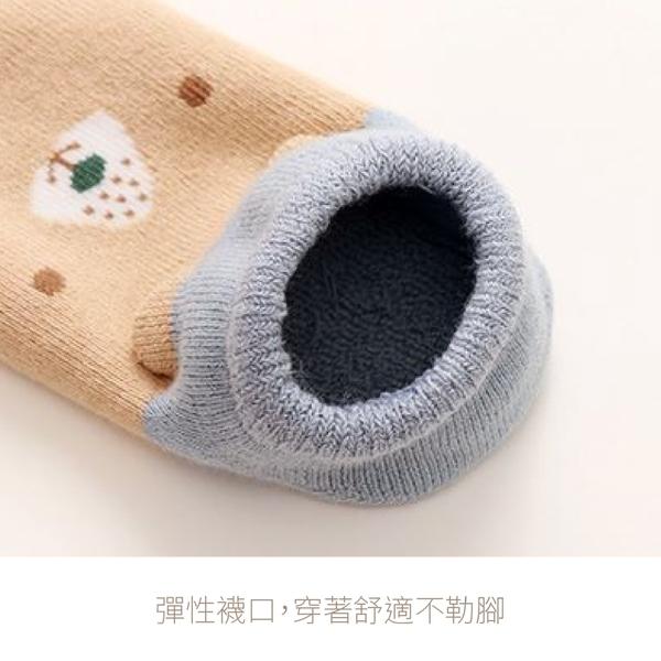 Q版熊熊止滑毛圈襪 防滑學步襪 冬季保暖 幼兒學步襪 透氣柔軟(6-24M)【JB0089】