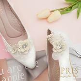 韓國直送手工獨家訂製 梨花海棠守護幸福 婚鞋推薦飾扣鞋夾