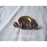 early Morning - 日系 韓國 英倫寶石骨董耳環 仿月光石【MIJ099】