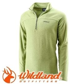 【Wildland 荒野 男 遠紅外線PILE保暖上衣 淺綠色】 OA22508/遠紅外線保暖衣/刷毛衣★滿額送