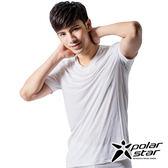 PolarStar 男 排汗快乾T恤『白』 P15137 吸濕排汗背心 運動 男生內衣內著 散熱背心T恤