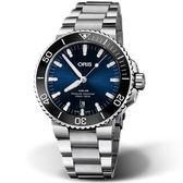 Oris豪利時 Aquis 時間之海300米潛水機械錶  0173377304135-0782405PEB