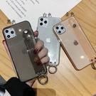 iPhone 12 Pro Max潮流保護套閃粉腕帶軟殼手機殼 iPhone 12皮套保護套 IPhone 12 mini手機套素面蘋果保護殼