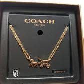 美國名牌 COACH 馬車造型LOGO項鍊  金色 母親節最佳感恩禮物  限量搶購 原價$2980 特價 $2150