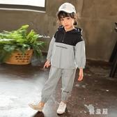 兩件套女童套裝 春裝2020新款裝夏中大兒童小孩工裝洋氣運動衣服潮 BT21158『優童屋』