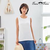 【Tiara Tiara】百貨同步新品aw延  蕾絲肩背心(白/米白/藍)
