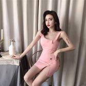 97920#夜場女裝2019夏季性感氣質露背吊帶裙子緊身包臀連身裙G-B507-B日韓屋