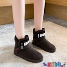 雪地靴 運動雪地靴女2021年秋冬季新款加絨加厚棉鞋防水防滑東北鬆糕短靴寶貝計畫 上新