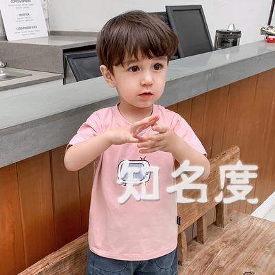 短袖 嬰兒短袖T恤2019夏裝新款男童裝兒童小寶寶半袖打底衫潮上衣 3色