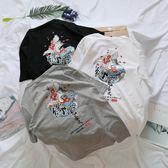 T恤原創日系潮牌t恤男短袖寬鬆復古原宿bf風情侶裝半袖chic上衣女ins 寶媽優品