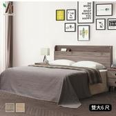 【伊本家居】威爾 床組兩件 雙人加大6尺(床頭片+床底)白梣