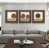 現代沙發背景牆畫立體裝飾畫3D無框浮雕畫客廳牆壁畫三聯 XW(1件免運)