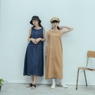 Queen Shop【01085541】跳色壓線造型設計無袖洋裝*現+預*