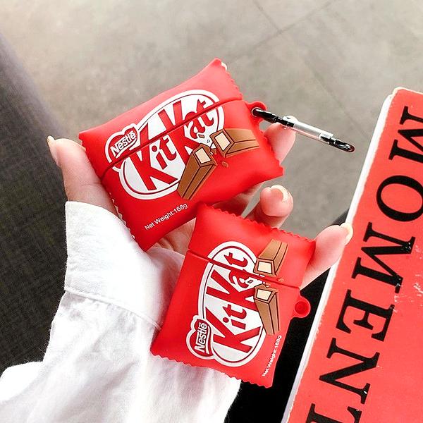 Airpods Pro 專用 1/2代 台灣發貨 [ KitKat 巧克力 ] 藍芽耳機保護套 蘋果無線耳機保護