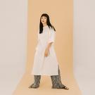 Queen Shop【01085335】側開衩剪接棉質洋裝 兩色售*現+預*