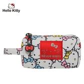 【橘子包包館】Hello Kitty 繽紛凱蒂-圓筒零錢包-白 KT01V06WT 零錢包