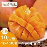沁甜果園SSN.台南愛文芒果(12-16粒裝/10台斤)(共二盒)﹍愛食網
