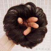 全真人髮假髮髮圈 捲髮丸子頭假髮包 半丸子頭花苞頭捲髮圈髮髻 晴天時尚館