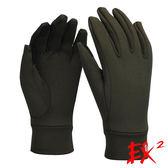 EX2 Polartec保暖手套『墨綠』861231 防風手套│保暖手套│防滑手套│刷毛手套