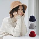 [現貨] 日系純色帽沿可彎折針織保暖漁夫...