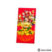Disney迪士尼系列金飾 黃金元寶紅包袋-迪士尼家族款